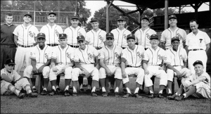 1960 Brantford Red Sox: Franklin is standing second from the right in the back row. Photo and other info regarding his t